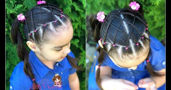 Peinado Infantil Con Ligas Y Coletas Peinado Para Nina Facil Y