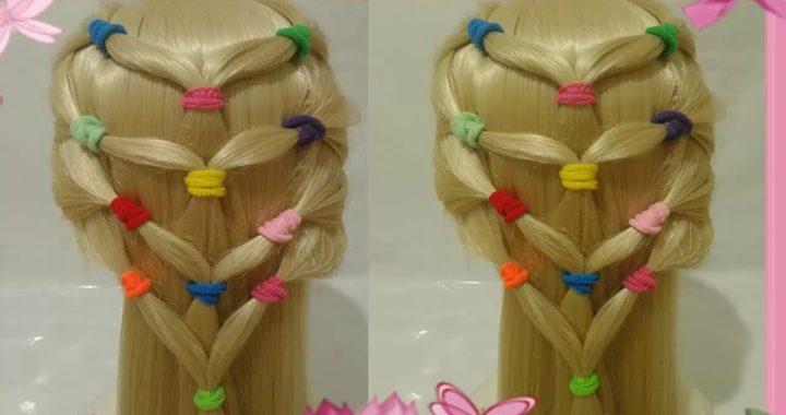 Peinados Recogidos Con Colores Y Trenzas Faciles Y Rapidos Para Nina