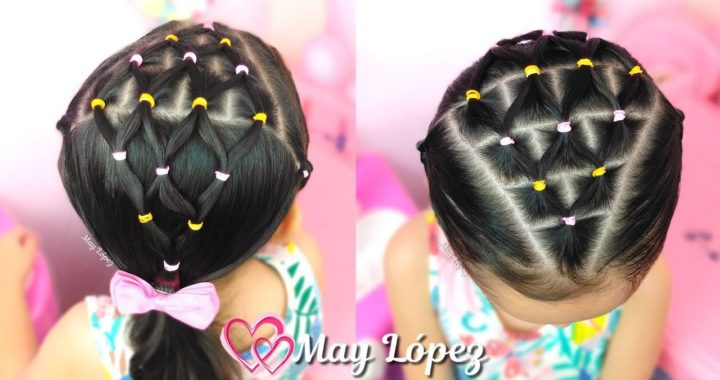 Peinado Facil Con Ligas Para Ninas Peinados Faciles May Lopez