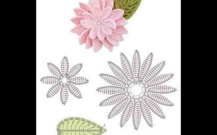 2f70b00ad Esquemas de flores a crochet motivos a ganchillo