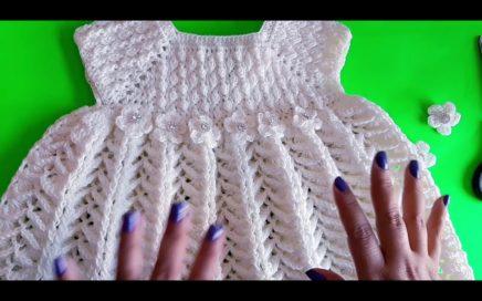 ee0a0b4019 ELEGANTE VESTIDO para niña a CROCHET tejido en punto 3D parte   4