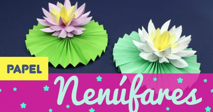 Nenúfares De Papel Cómo Hacer Una Flor De Loto De Origami Paso A