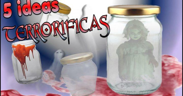 Ideas Fáciles Para Frascos De Vidrio Decorados Halloween